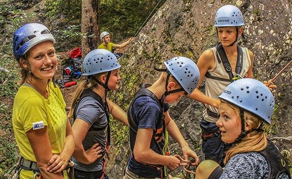 Take your English rock climbing!