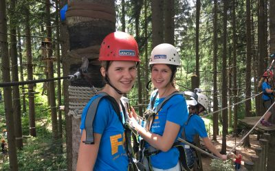 High Ropes, storms and the Sprachcamp Olympics