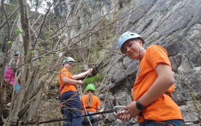 Eine ganze Woche Englischcamp – A Day Out Rock Climbing!